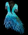 Black Velvet and Blue feather body sculpture